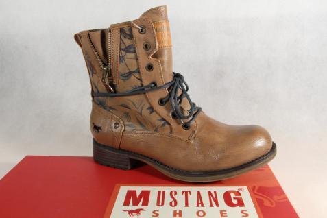 Mustang Stiefel Stiefeletten Schnürstiefel Boots natur braun 1139 NEU!