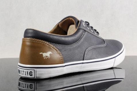 Mustang Schnürschuhe Sneaker, Halbschuhe Sportschuhe NEU Slipper Gummisohle blau NEU Sportschuhe 987ac7