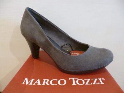 Marco Tozzi Kunstleder Pumps Ballerina Slipper grau Kunstleder Tozzi NEU! c7d03c