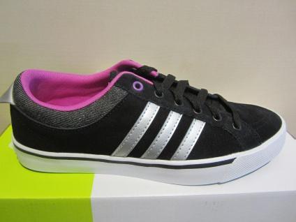 Adidas Schnürschuh Sneaker schwarz/weiss Leder NEU - Vorschau 1