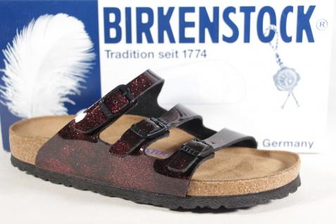 Birkenstock Pantolette Pantoletten Hausschuhe Lack Pantoffel rot Lack Hausschuhe NEU! 57c870