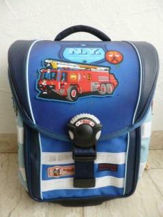 """McNeill Schultasche Schulrucksack """" Fire Engine"""" 6-tlg. blau NEU!"""
