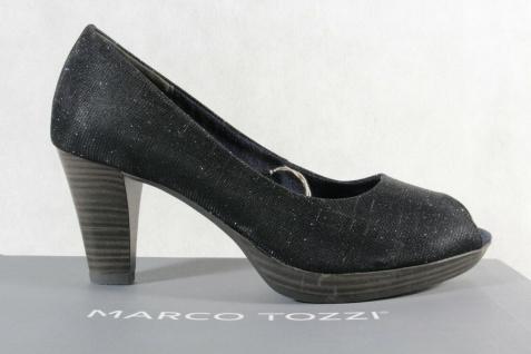 Marco Tozzi Pumps Ballerina Slipper Peep Toe blau NEU! - Vorschau 2