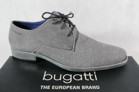 Bugatti Herren Schnürschuhe Halbschuhe Sneaker grau Leder 16316 NEU!