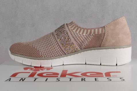 Rieker Slipper Lederinnensohle, Ballerina Halbschuhe Pumps weiche Lederinnensohle, Slipper rosa 537T6 NEU 935d85
