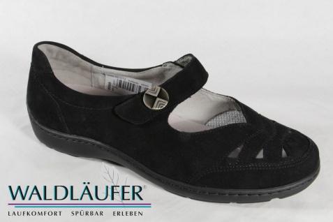 Waldläufer Leder Damen Slipper Ballerina schwarz Leder Waldläufer Lederwechselfußbett NEU! d84b31