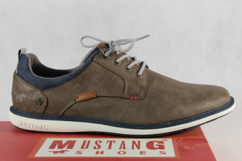 Mustang Herren Schnürschuhe Sneakers Halbschuhe Sportschuhe 4111 braun NEU! - Vorschau 2