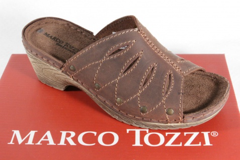 Marco Tozzi Pantolette, braun, Lederinnensohle weiche Lederinnensohle braun, NEU! 03fcc6