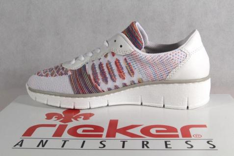 Rieker Damen weiß Schnürschuhe Sneakers Sportschuhe Halbschuhe weiß Damen 537P4 NEU! be601d