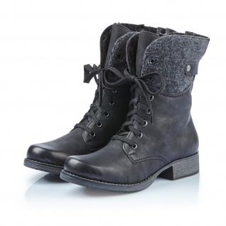 Rieker Damen Stiefel Stiefeletten Schnürstiefel schwarz Y9704 NEU!