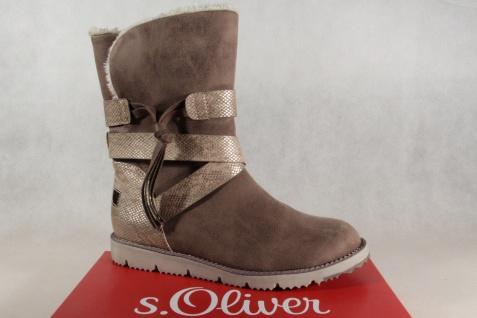 S.Oliver Stiefel Damen Stiefel Stiefeletten Winterstiefel Stiefel S.Oliver cigar/ grau 26481 NEU!!! 60a587
