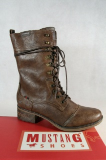 Mustang Stiefel Stiefeletten Schnürstiefel Boots braun 1229 NEU!