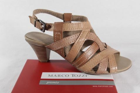 Marco Sandalette Tozzi Damen Sandale Sandalen Sandalette Marco hellbraun, Echtleder NEU!! fe7217