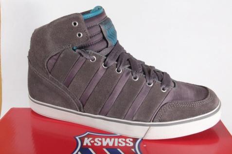 K - Swiss Herren Schnürstiefel Stiefel Boots Halbschuhe Leder/Nylon grau NEU!