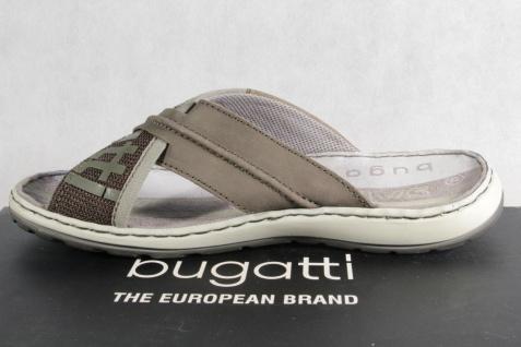 Bugatti Herren Pantoletten oliv Clogs Pantoffel Pantolette Echtleder oliv Pantoletten NEU! 774681