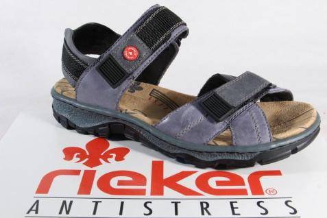 Rieker Damen 68851 Sandalen Sandaletten blau Leder 68851 Damen NEU!! feb7e1