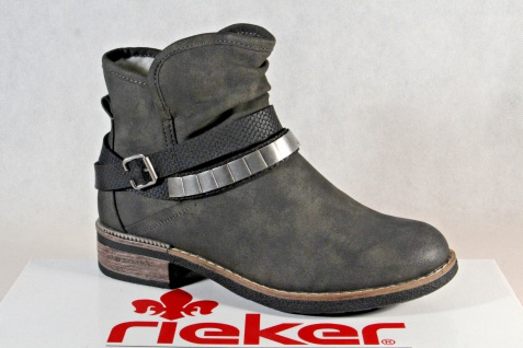 new styles ed3f5 1b6eb Rieker Stiefel Stiefeletten Boots, Winterstiefel grau 94671 NEU!