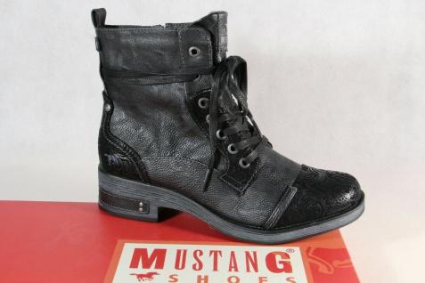 Mustang Stiefel Stiefeletten Schnürstiefel Boots schwarz 1293 NEU!