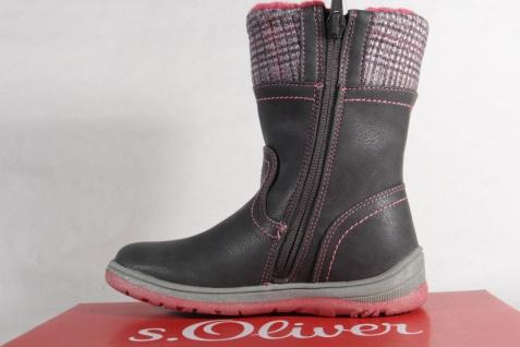 S.Oliver Tex 36421 Stiefel Stiefeletten Stiefel grau/pink 36421 Tex NEU! 4549a6