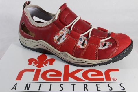 Rieker Damen Slipper, Halbschuh, Sneaker, rot weiche Innensohle , L0561 NEU!