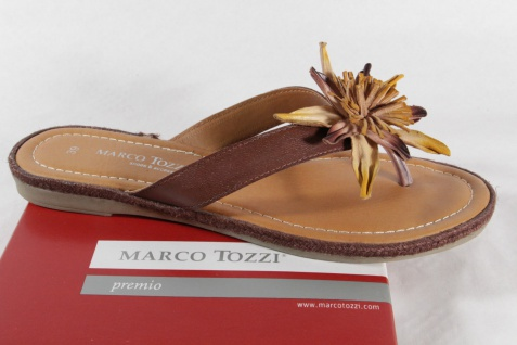 Marco Tozzi Zehenstegpantoletten Pantoletten Innensohle braun weiche Innensohle Pantoletten NEU! 7f4e22