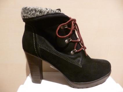 Damen Stiefel Stiefeletten Boots Winterstiefel Schnürstiefel schwarz Leder NEU!!