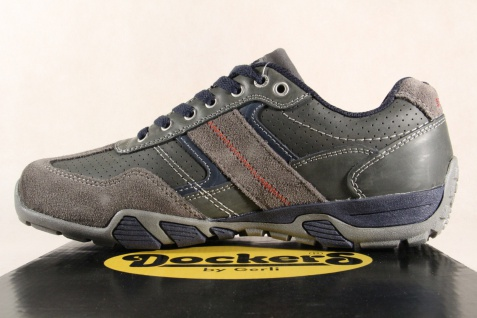 Dockers Sneaker Herren Schnürschuhe Sneaker Dockers Halbschuhe grau Echtleder NEU! c08477