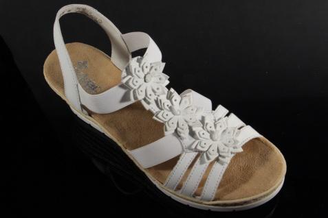 Rieker Damen Sandalen Sandaletten Sandale NEU!! Pantoletten weiß Leder 61949 NEU!! Sandale 3dc75f