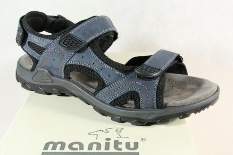 Manitu Herren Sandale Sandalen Sandaletten Sandalette Echtleder blau NEU!