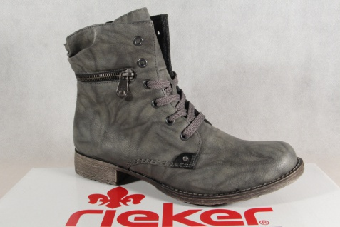 Rieker grau Damen Stiefel Stiefeletten Schnürstiefel grau Rieker 706F9 NEU! e2ee6c
