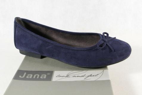 Jana Soft Line Damen Ballerina Pumps Slipper blau Weite H NEU!