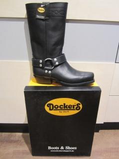 Dockers Bikerstiefel Stiefel Motorradstiefel Stiefel NEU schwarz Leder NEU Stiefel e7d62e