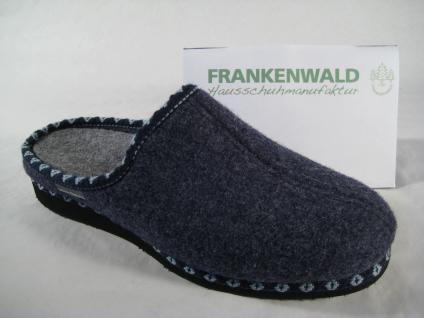 Frankenwald Damen Pantoffel, Fußbett Hausschuh mit Wollfilzfutter, Fußbett Pantoffel, 116/MF NEU!! 9ab734