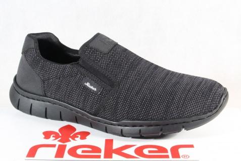 Rieker Halbschuhe Slipper Schnürschuhe Sneaker schwarz/grau B8760 NEU!!