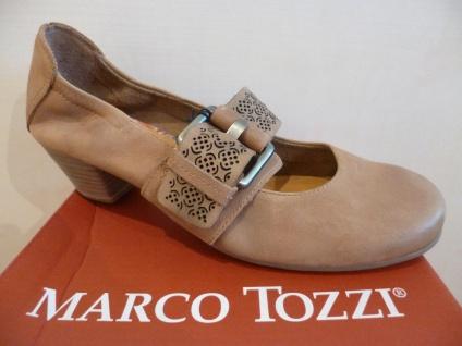 Marco Tozzi Pumps Ballerina Slipper braun Echtleder NEU!