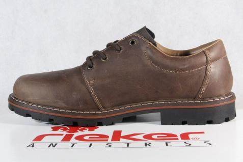 Rieker Herren Schnürschuhe, Halbschuhe Sneakers braun Leder TEX 17712 NEU! - Vorschau 3
