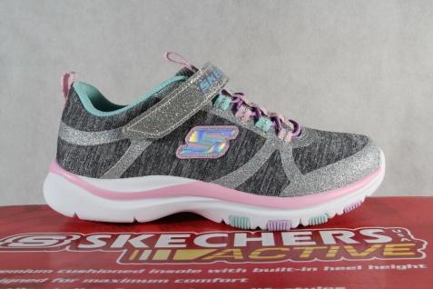 Skechers Sneaker Schnürschuh Sportschuh grau/ rosa Memory Foam NEU - Vorschau 2