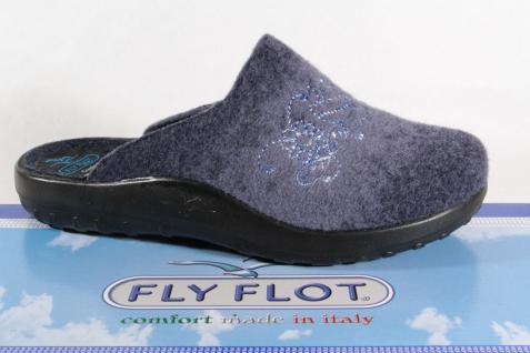 Fly Flot Damen Pantoffel 863100 Pantoletten Hausschuhe blau 863100 Pantoffel Neu! f0ecd2
