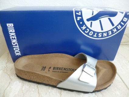 Birkenstock Madrid Pantolette Pantoletten Sandale Silver silber 0040413 NEU!