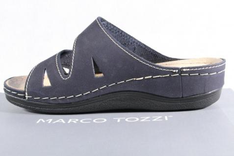 Marco Tozzi Damen Pantoletten NEU! Sandalen blau/ navy Echtleder NEU! Pantoletten e925bd