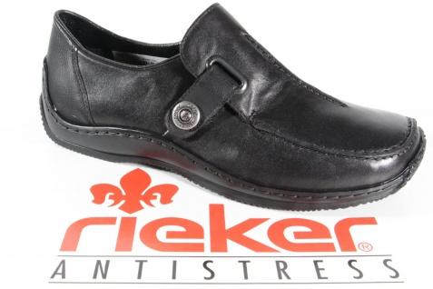 Rieker Slipper Halbschuhe Sneakers Ballerina Sportschuhe schwarz Leder L1753 Neu