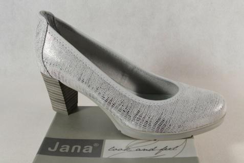 Jana Damen Pumps Soft Line Slipper Ballerina silber Weite H NEU!