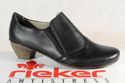 Rieker 41751 Slipper Sneakers Halbschuhe Sportschuhe Ballerina schwarz Leder NEU
