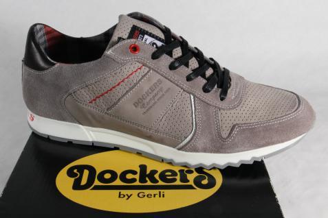 Dockers Herren Schnürschuhe Halbschuhe Sneakers NEU! grau Leder NEU! Sneakers d0899e