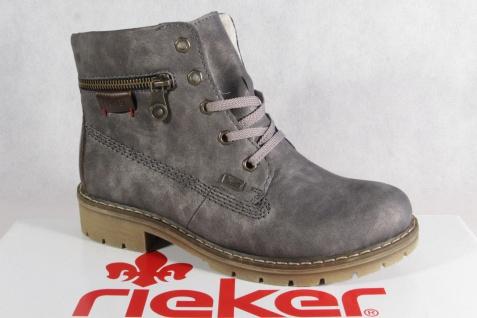Rieker Y9112 Tex Damen wasserdicht Schnürstiefel Stiefel Stiefelette grau wasserdicht Damen NEU eee305