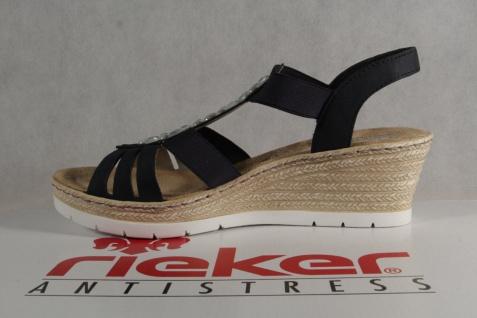 Rieker Damen Sandalen Sandaletten blau, NEU!! Keilabsatz, 61966 NEU!! blau, 535ae5