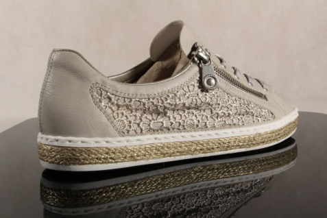 Rieker Damen Schnürschuhe, beige, Halbschuhe, Sneakers, beige, Schnürschuhe, M8504 NEU! 3164ef