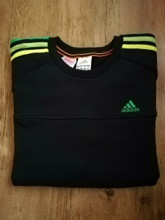 Adidas Jungen Sweatshirt Sweater Pullover Sport schwarz grün NEU
