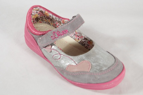 S.Oliver Ballerina grau/ pink, Lederinnensohle NEU!! NEU!! Lederinnensohle ea5e99