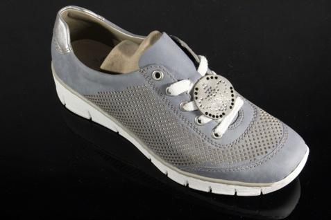 Rieker Sportschuhe Damen Schnürschuh Schnürschuhe Sneakers Sportschuhe Rieker Halbschuhe blau NEU! 79ba3d